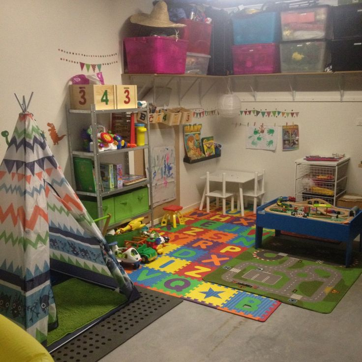 Garage storage/play room