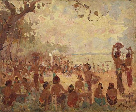 Adrien Jean Le Mayeur de Merprès - Di Pantai Bali