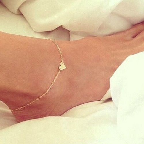 Elegant Ankle Bracelets Item Type: Anklets Fine or Fashion: Fashion Gender: Women Style: Romantic Material: None Length: 23-25cm Metals Type: Zinc Alloy Shape\pattern: Heart Fine Or Fashion: Fashion I