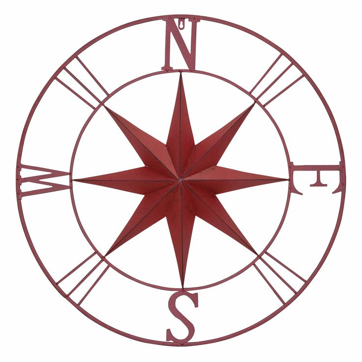 Antique Metal Compass Rose Wall D 233 Cor Antiques Bays And