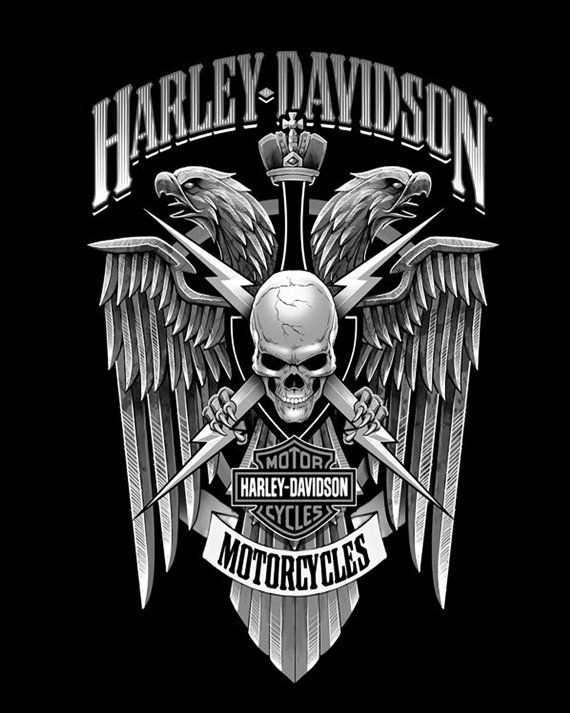 Harley Davidson  Harley Davidson Motorcycle Poster by JSpromotions