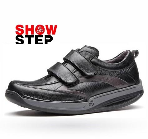 Zapatos de hombre Fluchos sistema Show Step mod. Odyssey en color negro. www.milpies.es/fluchos-show-step-odyssey.html