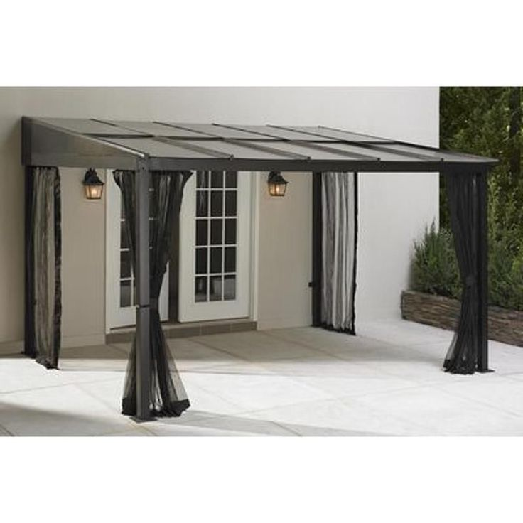 Outdoor gazebo canopy add a room patio furniture shade for Abri mural hardtop gazebo