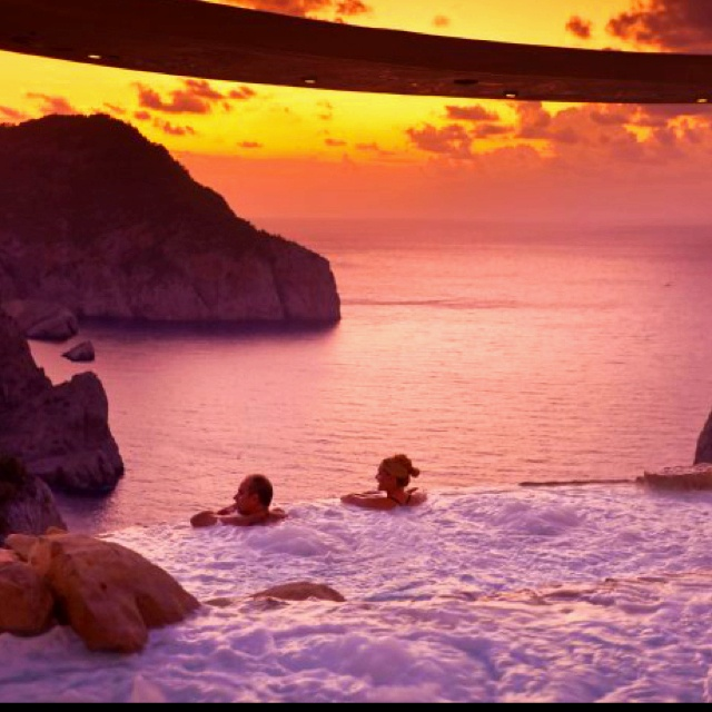 Ibiza, Spain sunset. Can we trade places????