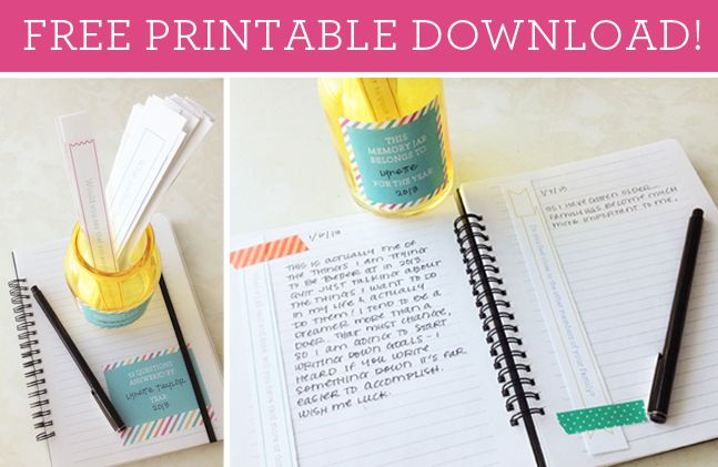 Free printable. 52 questions to journal about throughout the year.