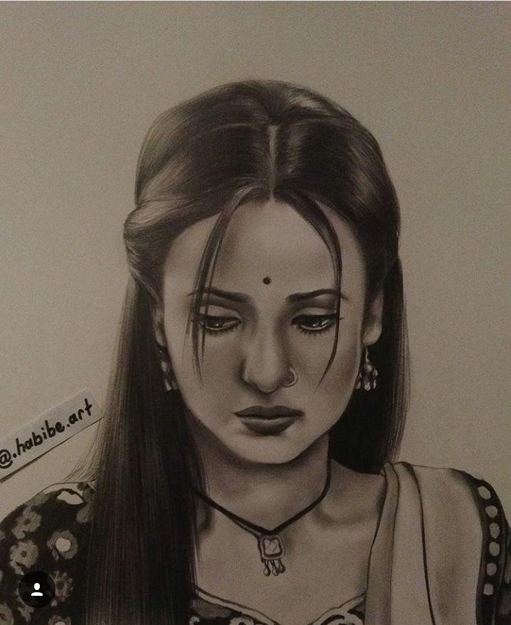 Sanya Irani (Paro) rangrasiya حبيبي دائما Drawing