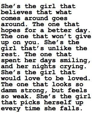 And that girl realizes the tears dont change pain and love doesnt dismiss betrayal. My aching heart......