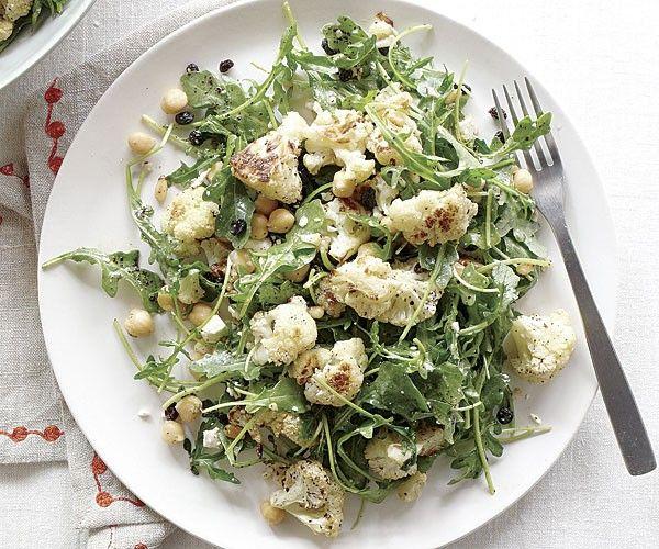 Roasted cauliflower and arugula salad with sumac dressing | Recipes ...