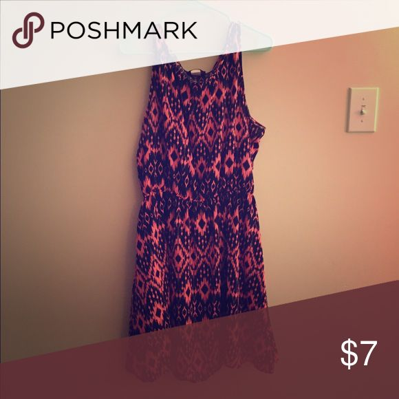 Pink and navy plus size dress Worn once. Very cute and can be worn to just about anything invasion Dresses