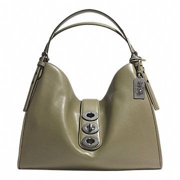 MADISON TRIPLE TURNLOCK CARLYLE SHOULDER BAG IN LEATHER