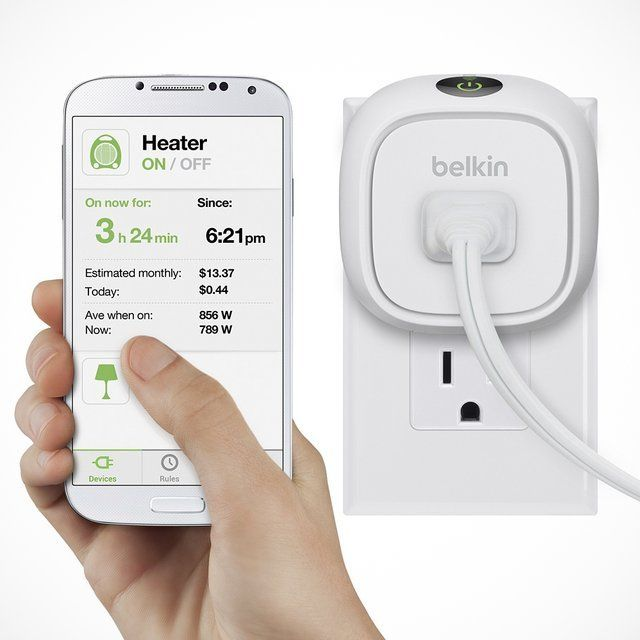 Control your home electronics with this Belkin WeMo Insight F7C029FC switch that allows you to remotely activate or deactivate items using your compatible Android or iOS mobile device. Custom notifications help you monitor energy consumption. Product Features Compatible with select Apple® and Android devicesWith iOS 6.0 or later or Android 4.0 or later operating systems for wide-ranging use. Works with the WeMo app (download required).Uses your home Wi-Fi network (2.4GHz 802.11n) and ...