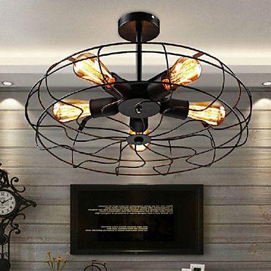 Industrial Vintage Metal Fan Pendant Lamp Steampunk Ceiling Chandelier Light 4668442 2016 – $171.99