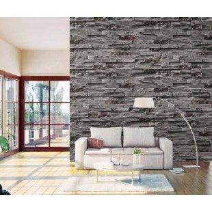 Siyah Taş Duvar Kağıdı 16,5 m2