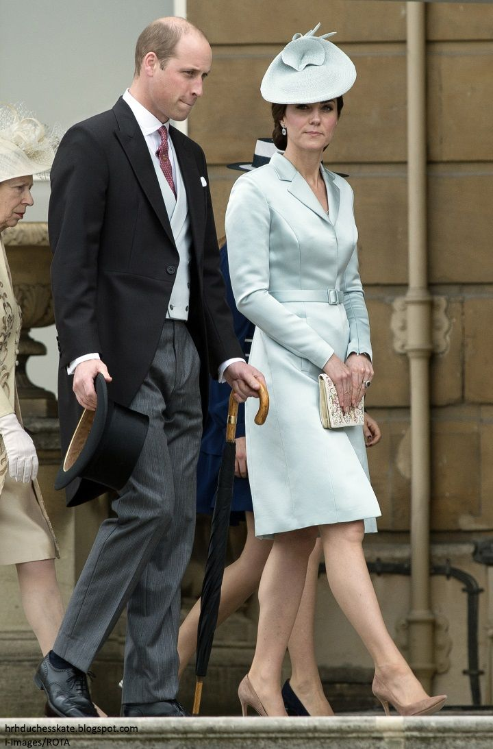 Prince William, Duke of Cambridge and Catherine, Duchess of Cambridge at a garden party at Buckingham Palace on May 16, 2017 in London, England.