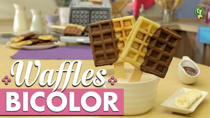¿Cómo preparar Waffles Bicolor? - Cocina Fresca