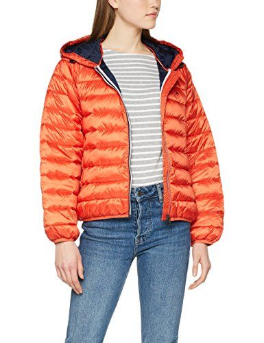Hilfiger Denim Tjw Short Padded Jacket 17 Blouson Femme Orange (Spicy  Orange 800) Large