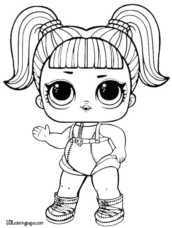 glamstronaut series 3 l o l surprise doll coloring page cp
