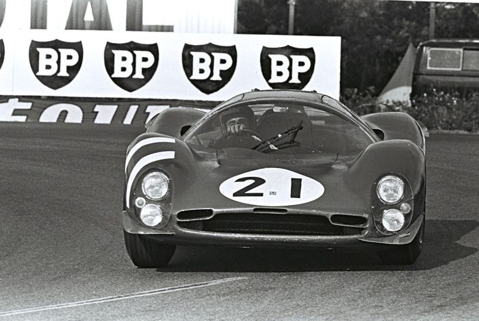 https://flic.kr/p/dmj8TU | Ferrari 330 P3 at Le Mans 1966 | Jean Guichet and Lorenzo Bandini drove this factory Ferrari at Le Mans in '66.  They were a DNF due to engine problems.  Henry Ford-Dave Friedman photo.