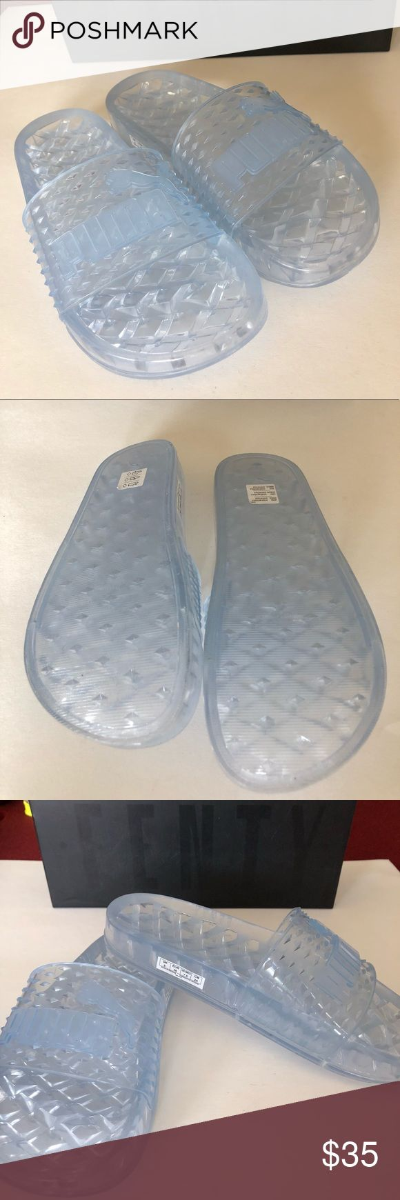 New Puma X Fenty By Rihanna White Jelly Slides Jelly Slide Womens brand new Fenty by Rihanna. Come with the box. If you have any questions please do not hesitate to ask. These do not come with the dust bag. For sizing info check the Puma website they can give you a better answer than I could. Thank you for looking. Puma Shoes Sandals