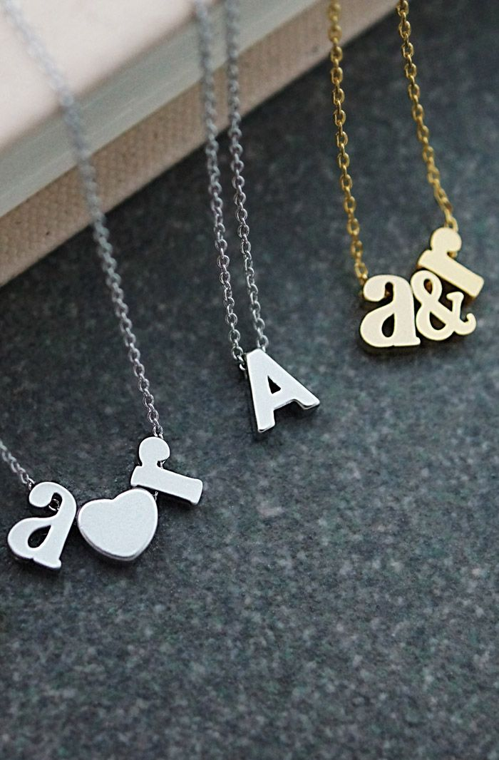 Modern minimalist Personalized letters necklace from EarringsNation Christmas gift couple gift for friends