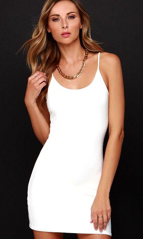 Bodycon-Tender Cream Mini Dress