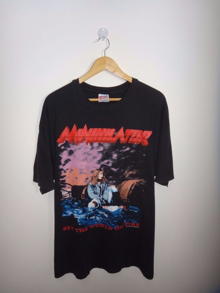 Vintage Annihilator 1993 World On Fire Tour Concert T Shirt Kreator Metal Slayer #Hanes #GraphicTee