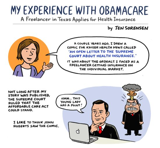 A Freelancer in Texas Applies for Health Insurance, by Jen Sorensen