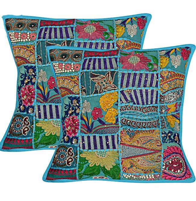 Light Blue Cushion Covers
