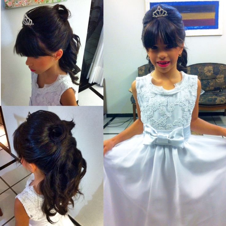 Best 25 Penteados Para Formatura Infantil Ideas On Pinterest