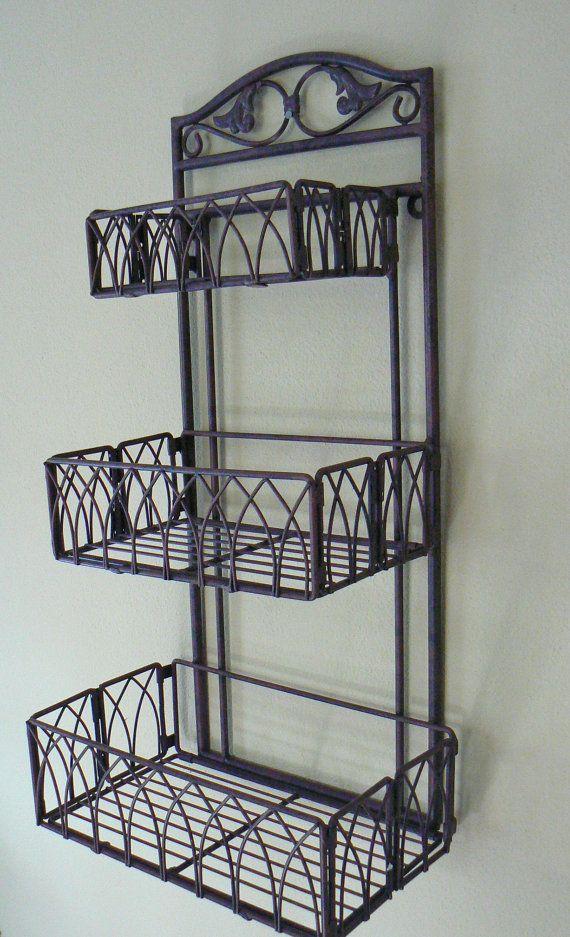 tuscan iron metal 3 tier wall shelf or wall by on wall shelves id=11369