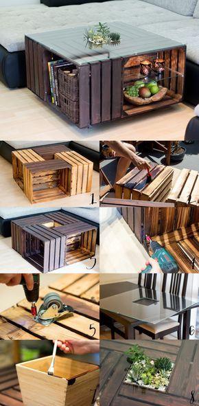 die besten 25 obstkisten tisch ideen auf pinterest. Black Bedroom Furniture Sets. Home Design Ideas