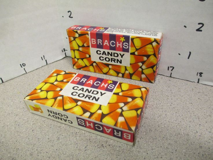 Brach's CANDY CORN (1 box) 1960s movie theater halloween size candy box