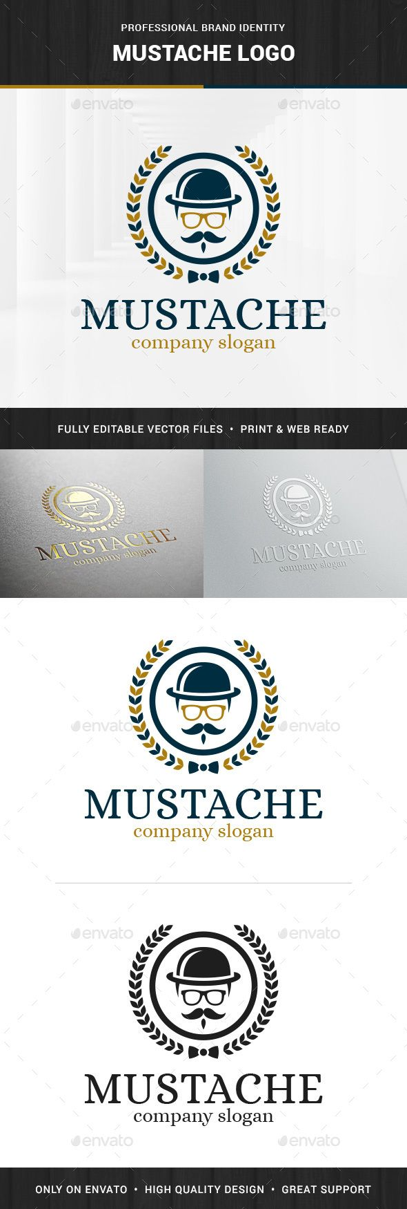 Mustache Logo Template - Humans Logo Templates