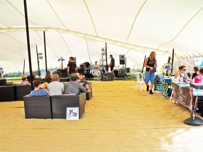 music venue stretch marquee hire
