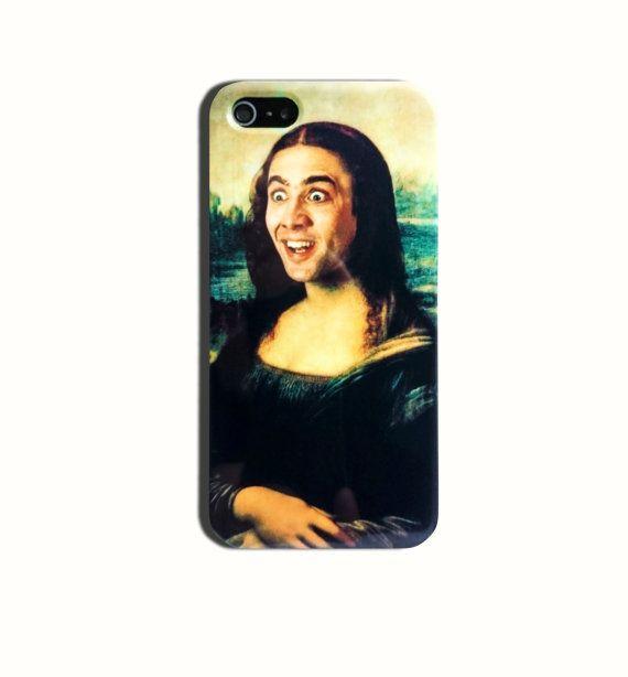 Nicolas Cage Mona Lisa Funny Meme Hard Case iPhone 4 4s, 5/5s, 5c, iPhone 6, iPhone 6 Plus, Galaxy S5, Galaxy S6 case