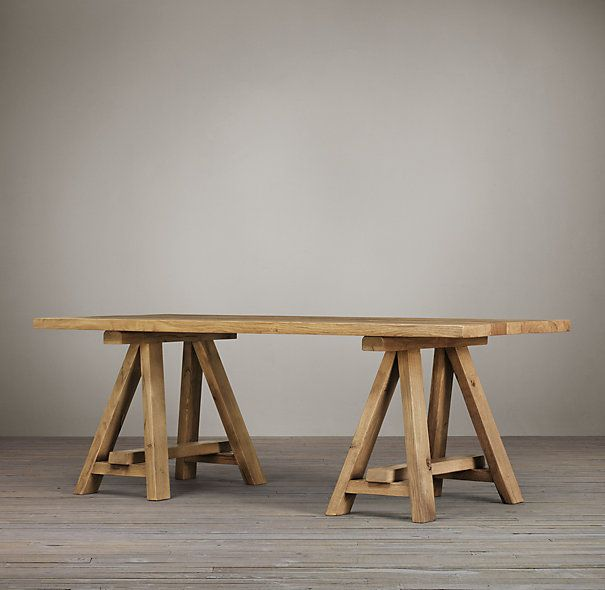 Charming Trinity Reclaimed Russian Oak Dining Table