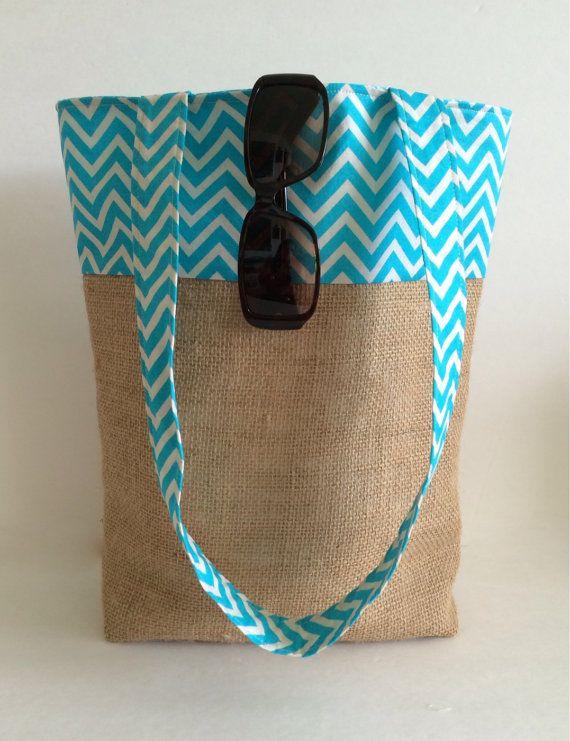 Tote Bag Beach Bag Handbag Burlap Tote Bag by RavensMoonDesigns