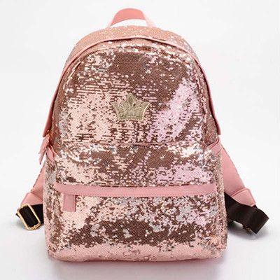 Wholesale Backpack 2016 Cute Casual Women Canvas Backpacks Girls School Backpack Travel Bags Big Bag paillette bling Women bag