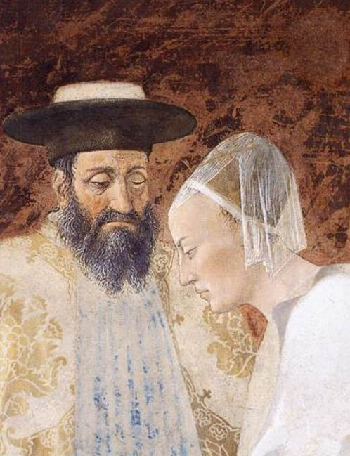 Meeting between the Queen of Sheba and King Solomon 1452-66 Fresco