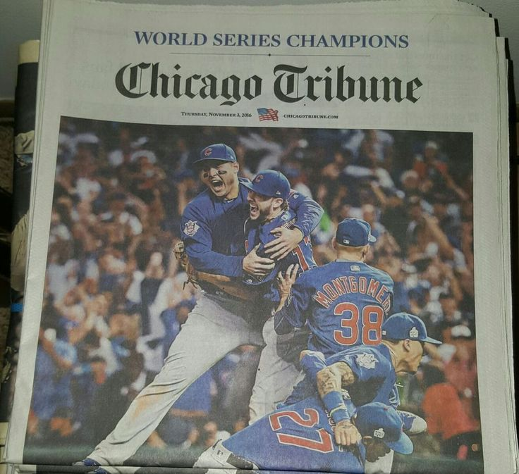Chicago Cubs World Series Champs Chicago Tribune Newspaper #ChicagoCubs