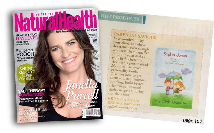 MY LITTLE CHARACTER features in the Oct-Nov 2014 issue of the Australian Natural Health Magazine HOT PRODUCTS!!! www.mylittlecharacter.com #babygiftidea #childpersonality