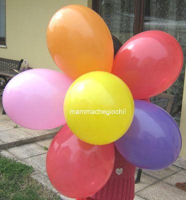 Fiore di palloncini senza elio