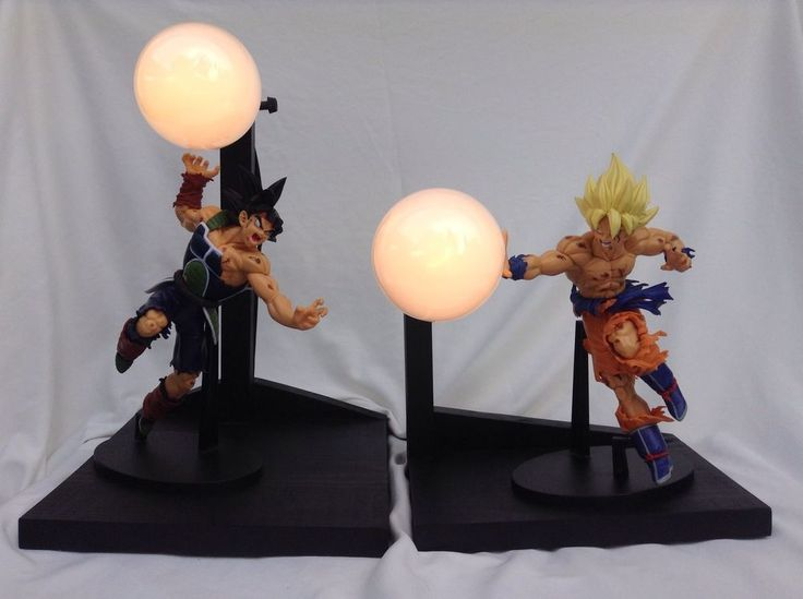 Bardock Vs Goku Battle Damaged Custom Lamp Dragonball Z | EBay