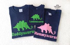 Dinosaur birthday party t shirt set,  matching mommy, daddy and kid, personalized dinosaur birthday party shirt, fathers day gift