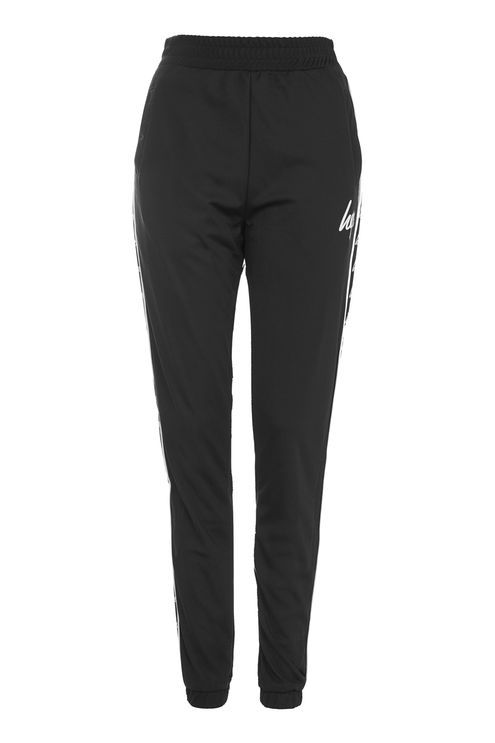 **Black Drop Crotch Joggers by Hype