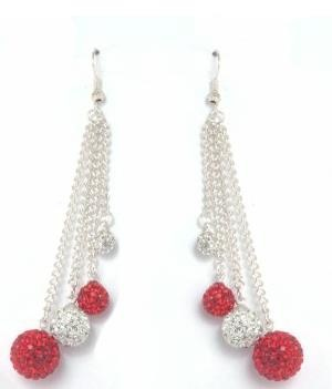 Double Drop Red and Clear Crystal Earrings available on Facebook page https://www.facebook.com/foreverfabulous.store?ref=tn_tnmn