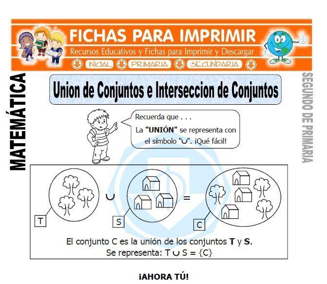 Ficha De Union De Conjuntos Segundo De Primaria Matematicas Primero De Primaria Primarias Lectura Cortas Para Niños