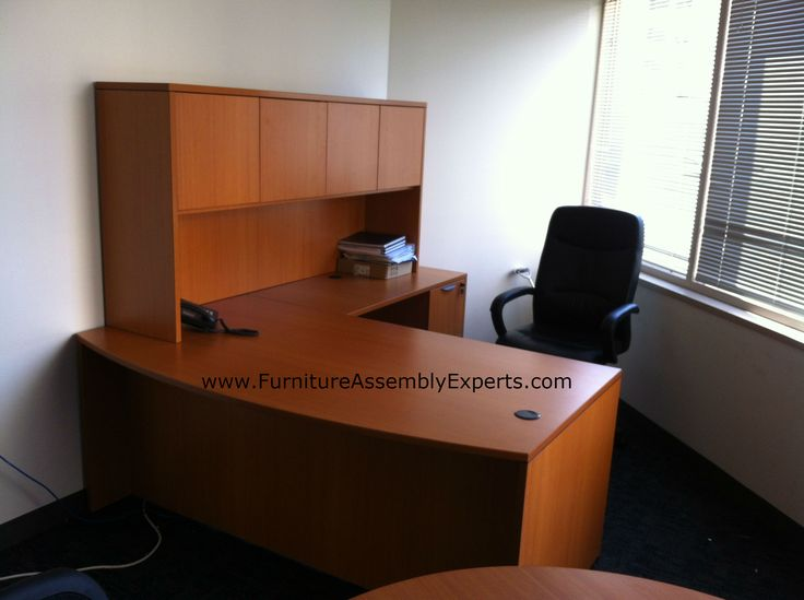 Nice National Business Furniture GSA Approved L Shaped Office Desk With Hutch  Assembled In Washington DC At