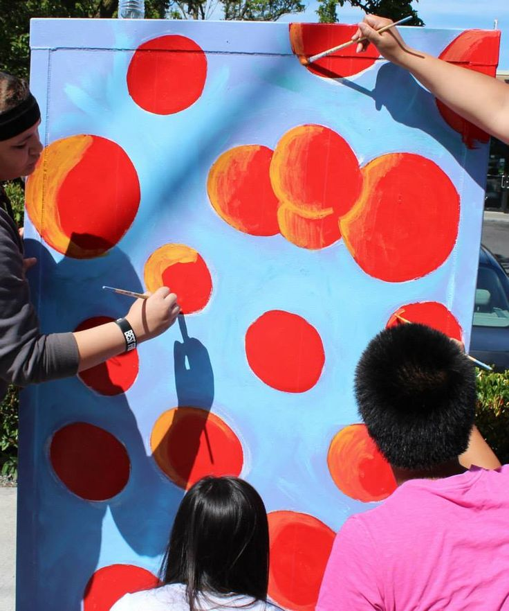 Salmon eggs- part of the salmon life cycle mural series.