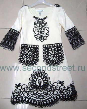 декор как украсить платье шнуром сутаж